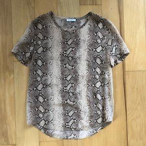 equipment femme Silk snakeskin blouse
